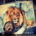 Leon rasta pintura arte dibujo