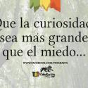 Que la curiosidad sea mas grande que el miedo vidarasta